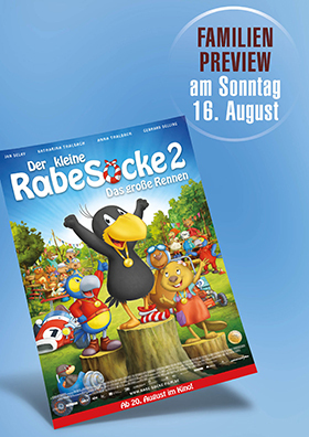 """Familienpreview """"Der kleine Rabe Socke 2 - Das große Rennen"""""""