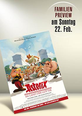 Familien-Preview:  <br>Asterix im Land der Götter
