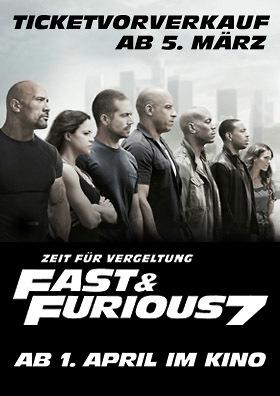 FAST & FURIOUS 7: VVK ab 5.3.!