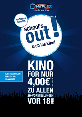 School's Out & ab ins Kino!