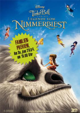 Familienpreview - Tinkerbell und die Legende vom Nimmerbiest