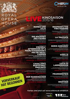 Klassik im Kino - Royal Opera u. Royal Ballet