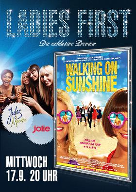 Ladies First: Walking on sunshine