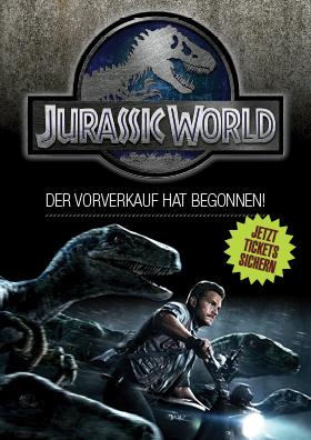 Vorverkauf: JURASSIC WORLD 3D