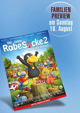 16.08. - Familienpreview: Der kleine Rabe Socke 2