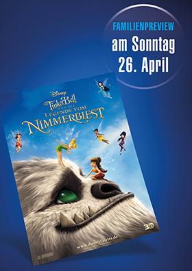 """Familien-Preview """"TinkerBell und die Legende vom Nimmerbiest"""""""