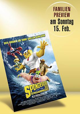 Familienpreview - SpongeBob 3D Schwammkopf