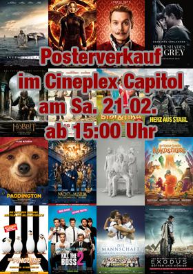 Posterverkauf im Cineplex Capitol