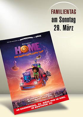 """Familientag 29.03.2015 zu """"HOME - Eine smektakulärer Trip"""""""