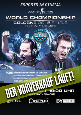 23.08. - eSports in Cinema: ESL One Cologne 2015