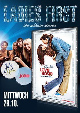 29.10. - Ladies First: Love, Rosie - Für immer vielleicht