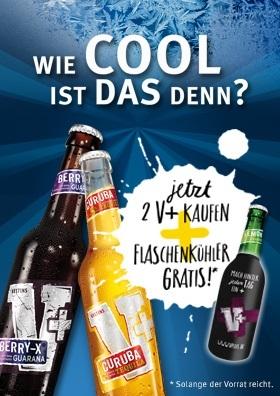 2 Veltins V+ und ein Flaschenkühler gratis!