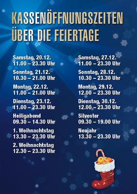 Unsere Öffnungszeiten an den Feiertagen