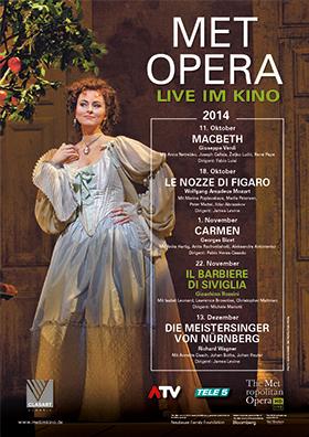 Metropolitan Opera: Vorverkauf Saison 2014/15