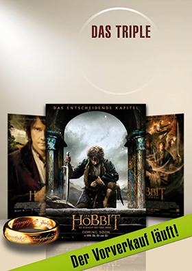 Hobbit-Triple: ein Abend - alle drei Teile!