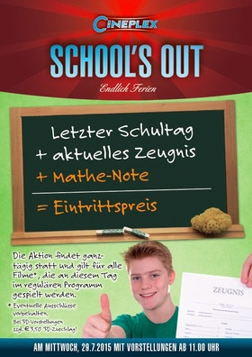 School's Out! Mathenote = Eintrittspreis
