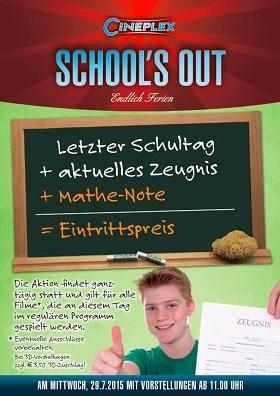 SCHOOL'S OUT: MATHENOTE = EINTRITTSPREIS