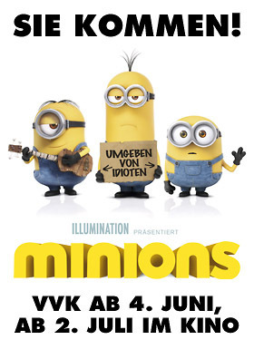 MINIONS 3D: VVK AB 04. JUNI!