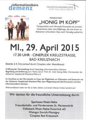 """Demenz-Veranstaltung """"Honig im Kopf"""""""