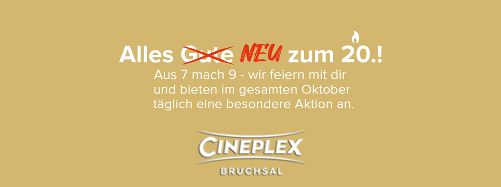 Oktoberspecials - Alles Neu zum 20.!