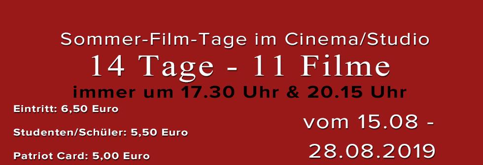 Sommer Film Tage im Cinema/Studio